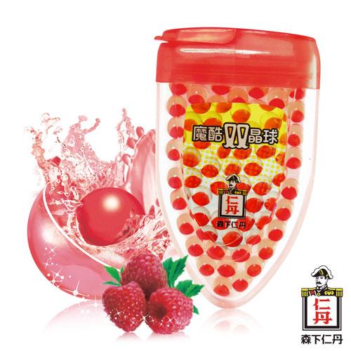 森下仁丹|魔酷雙晶球-果香覆盆莓(50粒/盒)